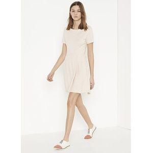 Lacoste Short Sleeve Stripe Cotton Interlock Dress